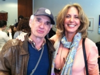 Marcia Gloster Ammeen with friend Roger Simon