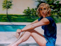 "Summer of Lila 30"" X 36"""