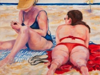 "Beach Ladies, St. Martin, 24"" x 24"""
