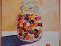 "Jelly beans, 14"" x 14"""
