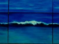 """Wave, 2016, oil, 3 panels, each 24"""" x 24"""""""