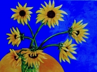 "Gabby's Sunflowers, 30"" x 30"""