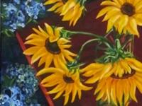 "Sunflowers, 20"" x 30"""